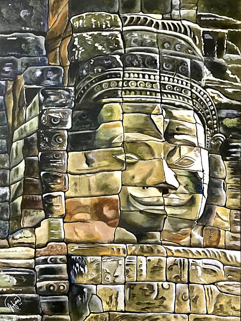 Smiling Face of Bayon Temple