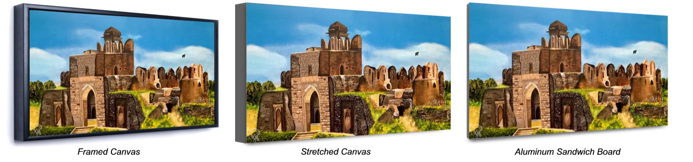 framed canvas Rohtas Fort